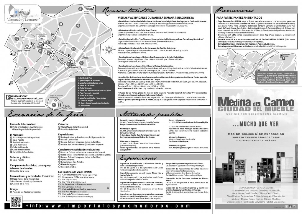 Plano - Programa Semana Renacentista 2013 Ciudad del Mueble