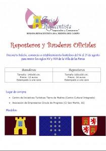 Bandera y reposteros Semana Renacentista