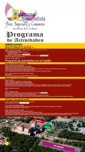 cartel actividades Castillo de la Mota
