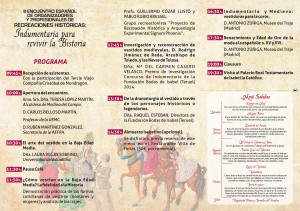 Programa Jornadas Recreaciones Medina del Campo 2014